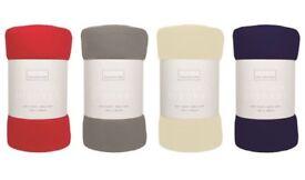 BRAND NEW Polar Fleece Throw Sofa Blanket, Choice of 4 Rich Colours, Soft & Simply Elegant
