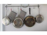 Ikea Double Bar Towel Rail or Kitchen Saucepan Rack with fixtures