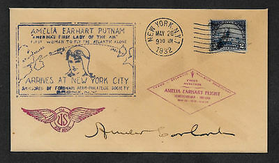 Amelia Earhart collector envelope w original period stamp 80 years old *OP1114