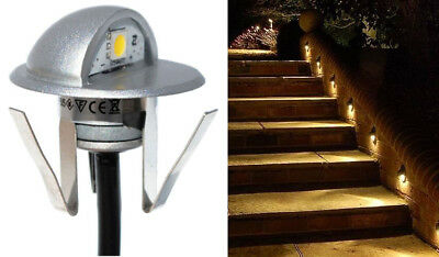 Aluminum 12 Volt Outdoor Step - 20pcs White Half Moon 12V LED Deck Yard Landscape Outdoor Step Stair Lights
