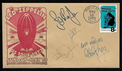 1973 Led Zeppelin Concert Featured on Collector's Envelope OP1267
