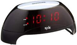 SXE 6 Digital LED Sunrise Simulator Night Light Alarm Clock (Black) SXE85000