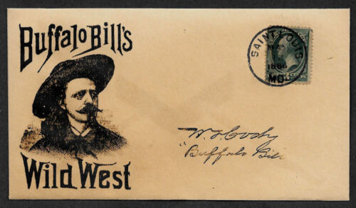 Buffalo Bill collector envelope w original period stamp 125 years old *OP1121