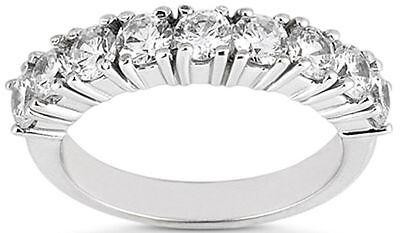 9 Diamond Wedding Ring Anniversary Band 0.91 carat total F color VS - Wedding Anniversary Colors
