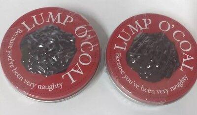 2/Pack - Candy Tin Lump O Coal Coal Shaped Gum](Coal Gum)
