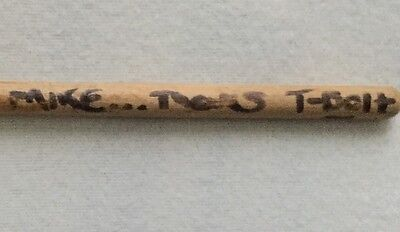 "J.P. ""Thunderbolt"" Patterson (Manitoba's Wild Kingdom) Drum Stick Concert Used"