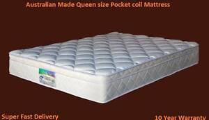 Brand New Pocket Coil Queen Size Mattress Sumner Brisbane South West Preview