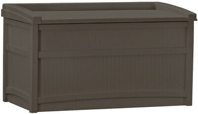 50 Gallon Outdoor Storage Bench Patio Box Garden Deck Yard P