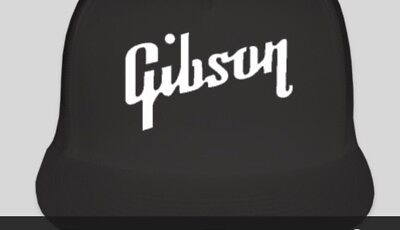 - GIBSON Logo Trucker Style Hat Cap Music Guitar Band NEW Instruments Adjustable