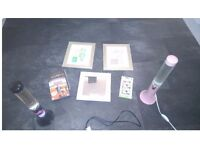 Lava Lamps, DVDs, Phone Case and Pictures