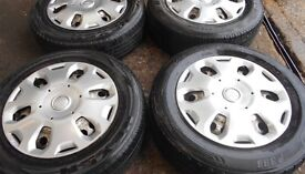 15″ FORD TRANSIT CONNECT WHEELS COMPLETE WITH WHEEL TRIMS