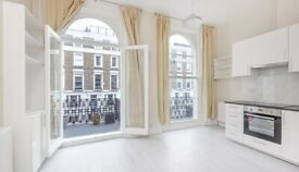 A lovely, bright studio flat with balcony to rent in Chelsea, SW3