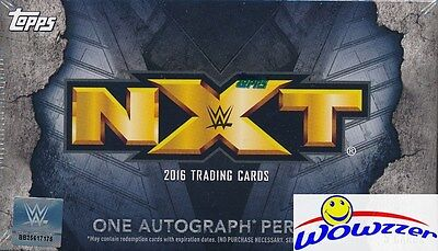 (5) 2016 Topps WWE Wrestling NXT EXCLUSIVE Factory Sealed Box-5 AUTOGRAPHS !