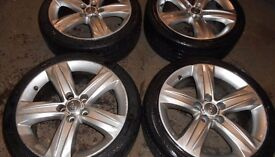 "18"" GENUINE VAUXHALL ASTRA H TWIN TOP ALLO WHEELS / TYRES"