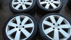 17″ GENUINE FORD MP3 ALLOY WHEELS / TYRES