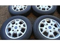 "16"" GENUINE FORD TRANSIT CUSTOM ALLOY WHEELS / TYRES"