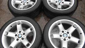 17″ GENUINE BMW STYLE 49 ALLOY WHEELS 8 X 17″ - 5 SERIES ETC