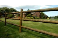 Round Fence Posts Stakes - Treated Timber Posts Pointed Posts Fence Post Stake 40mm 50mm 60mm 75mm