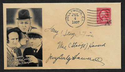 The Three Stooges Collector Envelope Original Period 1930s Stamp OP1140