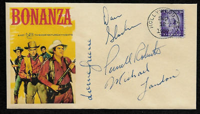 Bonanza Tv Western Featured On Collectors Envelope Autograph Reprints  Op1306
