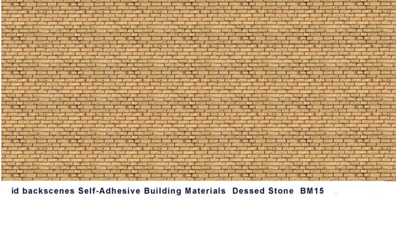 ID Backscenes BM015 Dressed Stone 10 Printed Self-Adhesive Paper Sheets 00Gauge