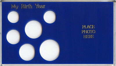 Capital Plastic 6 Coin Holder My Birth Year Small Dollar Photo Holder Blue