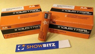 Batteries Duracell Industrial AA formerly Procell 2 x Box 10 1.5Volt  LR6 AA10