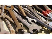 Old tools wanted cash paid