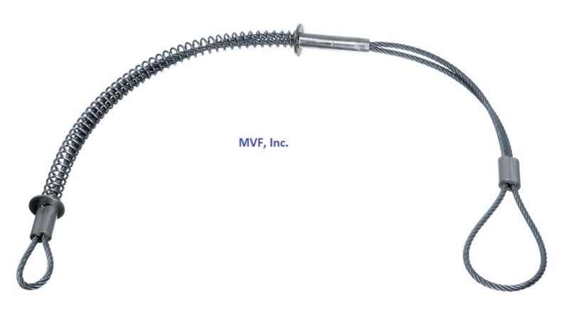 """HOSE WHIP SAFETY CABLE, HOSE TO HOSE RESTRAINT 1/2"""" TO 1-1/4"""" PLTD STEEL <WC1B"""