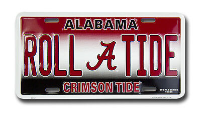 - ALABAMA CRIMSON TIDE CAR TRUCK TAG LICENSE PLATE ROLL TIDE BAMA FOOTBALL SIGN