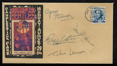 The Beatles 1966 Candlestick Concert Collector Envelope With 1960s Stamp OP1272