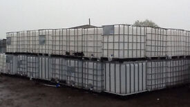 Large 1000 litre IBC water harvester rainwater liquid empty container storeage tank can deliver.