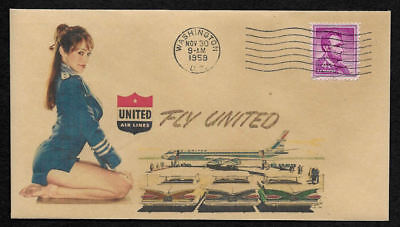 1950s Stanley Bailey Planes /& Pin Up Girl Featured on Collector/'s Envelope *A490