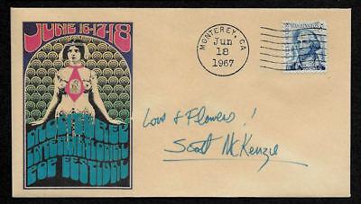 1967 Scott McKenzie Monterey Festival Featured on Collector's Envelope OP1265