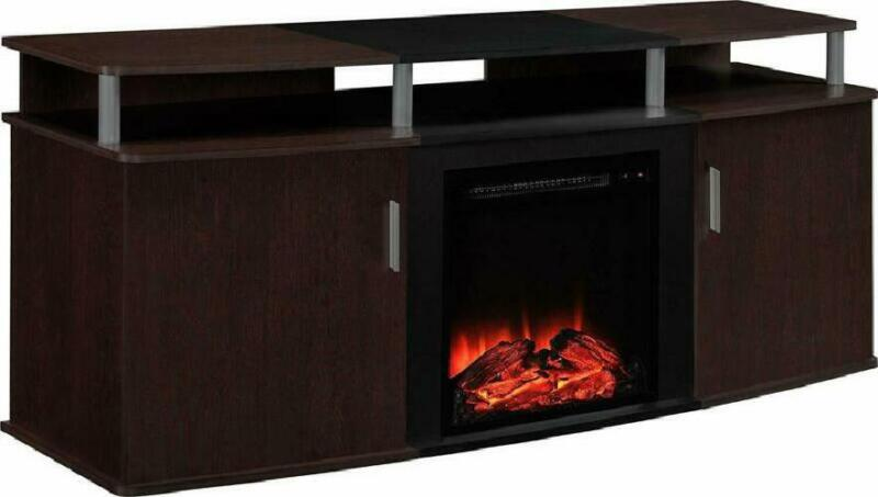 ameriwood home carson electric fireplace tv console