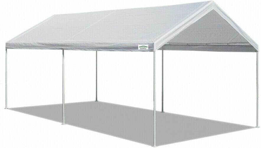 10x20 FT Carport Canopy Tent Steel Heavy Duty Outdoor Portab