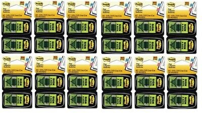 12 Packs - Post It Message Flags Sign Date Green 100 Per Pack New