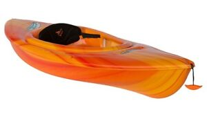 Pelican Sprint 80X Kids/Small Paddler Kayaks-Orange Colour