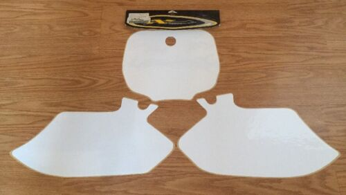 NEW! N-STYLE RACING PRE-CUT WHITE NUMBER PLATE BACKGROUND YAMAHA YZF400 YZF 400