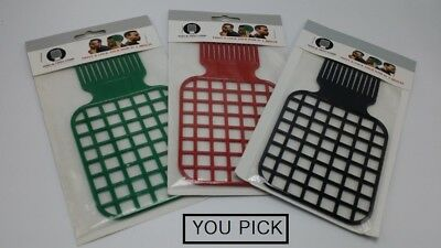 Afro & Twist Comb (Black, Green, Red) - YOU PICK !!