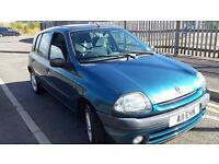 1999 RENAULT CLIO 1.4 ALIZE 45000 GENUINE MILES LAST OWNER 13 YEARS MOTED PRIVATE PLATE INCLUDED