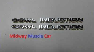 COWL INDUCTION hood emblem badges  kit   4 pc 70 71 72 Chevy Chevelle El Camino