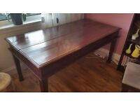Mahogany antique desk from the early 19th century (Edwardian period)