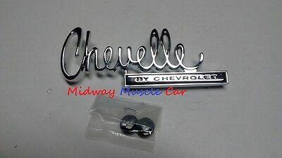 70 Chevy Chevelle by CHEVROLET rear deck trunk lid emblem ()