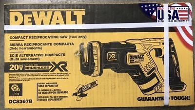 NEW DEWALT DCS367B 20V XR Brushless Compact Reciprocating Saw