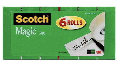 Scotch Magic Tape 34 X 22.2 Yds. 6 Rolls