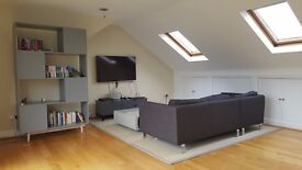 luxury 3 bed ,2 bath flat within minutes walk of Belsize park tube and High street available now.