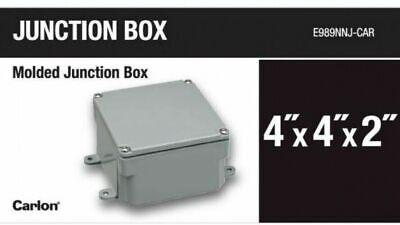 Carlon Junction Box Electrical Non Metallic Enclosure 4 X 4 X 2 Inch Pvc 5 Case