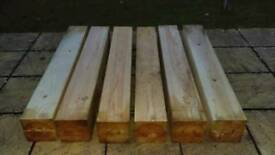 7.5x7.5 in width 53in long. Believed to be Maple £5 each or all 6 for 25