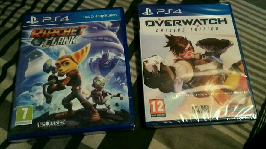 overwatch and ratchet clank ps4 games new sealed in castlereagh